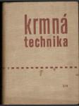 Krmná technika - kol. autorů - náhled
