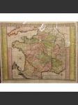 Les Routes Exactes Des Postes Du Royaume De France mapa - náhled