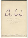 Alois Wachsman - Posmrtná výstava Aloise Wachsmana - náhled