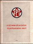 K dějinám dělnického tělovýchovného hnutí - náhled