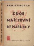 Z dob naší první republiky - náhled