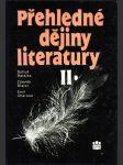 Přehledné dějiny literatury ii. - náhled