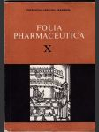 Folia pharmaceutica. Sv. 10 - náhled