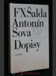 F.X. Šalda, Antonín Sova - dopisy - náhled
