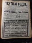 Textilní obzor. 1913. Orgán Spolku československých průmyslníků textilních a Publikační orgán českých škol textilních. - náhled