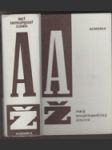 Malý encyklopedický slovník A-Ž - náhled
