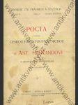 Pocta podaná českou fakultou právnickou panu Dr. Ant. rytíři Randovi k sedmdesátým narozeninám dne 8. července 1904 - náhľad