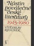 Nástin poválečné české literatury (1945 - 1980) - náhľad