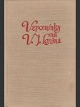 Vzpomínky na Vladimíra Iljiče Lenina - náhled