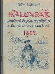 Nový rodinný kalendář Sdružení českých zemědělců a České strany agrární na rok 1914 - náhled