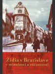 Židia v Bratislave v minulosti a súčasnosti - náhled