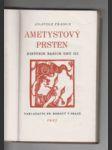 Ametystový prsten - Historie našich dnů. III - náhled