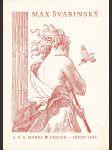 Max Švabinský - Souborná výstava díla - Praha síně Mánesa 1948 červen-červenec-srpen - Seznam vystavených prací - náhled