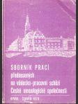 Sborník prací přednesených na vědecko-pracovní schůzi České sexuologické společnosti - náhled