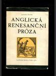 Anglická renesanční próza - Eufuistická beletrie od Pettieho Paláce potěchy do Greenova Pandosta - náhled