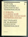 Slovník slovanské lingvistické terminilogie I.-II. (2 sv.) - náhled