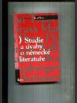 Studie a úvahy o německé literatuře - náhled