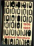 Světová literatura 1956-1965. Ročenka zahraničních literatur - náhled