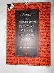 Národní a universitní knihovna v Praze, její vznik a vývoj. 1, Počátky knihovny až do r. 1777 - náhled