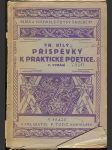 Příspěvky k praktické poetice - náhled