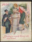 Šťastný a veselý Nový rok - poštovní knížka 1936 - náhled