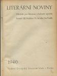 Literární noviny 1940 - Měsíčník pro literaturu a kulturní reporáž - náhled
