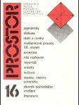 Prostor - nezávislý časopis - kulturně politická revue - náhľad