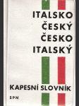Italsko-český a česko-italský kapesní slovník - náhled