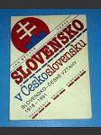 Slovensko v Československu / Slovensko-české vztahy 1918 - 1991 - náhled