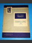LE-Klavír : Vyzvání k tanci, op.65 - Weber, / noty - náhled