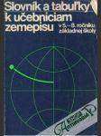 Slovník a tabuľky k učebniciam zemepisu - náhled