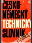 Česko - německý technický slovník - náhled