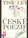 Tisíc let české poezie III. - náhled