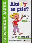 Slovenský jazyk.Aké i/y sa píše - náhled