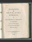 Masaryk a revoluční armáda - Masarykovy projevy k legiím a o legiích v zahraniční revoluci - náhled