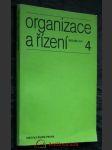 Organizace a řízení, ročník XVI, č. 4 - náhled