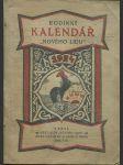 Rodinný kalendář Nového Lidu na rok 1924 : Čítanka pro náš lid. Roč. 13 - náhled