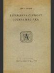 Literárna činnosť Jozefa Maliaka - náhled