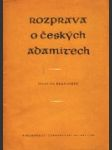 Rozprava o českých Adamitech - náhled