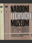 Národní technické muzeum 1978-1988. Sborník k osmdesátému výročí založení - náhled