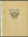Ročenka Štencova grafického kabinetu na rok 1920 vydaná na oslavu stoletého výročí narozenin Josefa Mánesa. - náhled