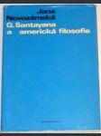 G. Santayana a americká filosofie - náhled