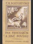 Pan Procharčin a jiné povídky - náhled