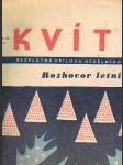Časopis kvítko ročník xii. -číslo 27 - 3. červenec 1938 - náhled