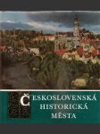 Československá  historická  města - náhled