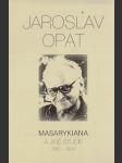 Masarykiana a jiné studie  - náhled
