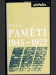 PAMĚTI  1945 - 1972 - náhled