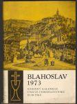 Blahoslav 1973 - rodinný kalendář církve čs. husitské - náhled