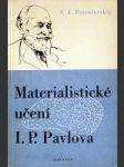 Materialistické učení I. P. Pavlova - náhled