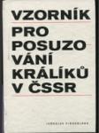 Vzorník pro posuzování králíků v Československé socialistické republice - náhled